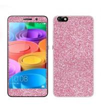 Skin fashion GLITTER pentru Huawei Honor 4X - Pink