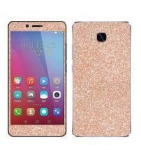 Skin fashion GLITTER pentru Huawei  5X - Gold