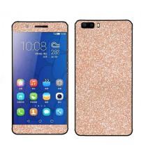Skin fashion GLITTER pentru Huawei Honor 6 - Gold