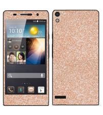 Skin fashion GLITTER pentru Huawei Ascend  P6 - Gold