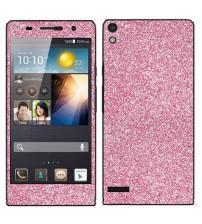 Skin fashion GLITTER pentru Huawei Ascend  P6 - Pink