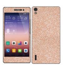 Skin fashion GLITTER pentru Huawei Ascend  P7 - Gold