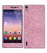 Skin fashion GLITTER pentru Huawei Ascend  P7 - Pink