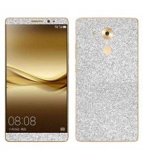Skin fashion GLITTER pentru Huawei  Mate 8 - Silver