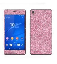 Skin fashion GLITTER pentru Sony Xperia Z3 - Pink
