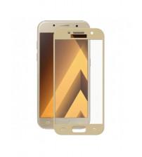 Folie protectie sticla securizata Samsung Galaxy A3 2017 - Gold