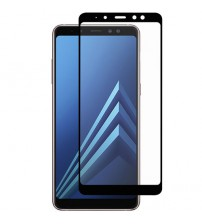 Folie sticla securizata tempered glass Samsung Galaxy A7 2018, Black