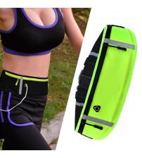 Borseta reflectorizanta pentru alergare cu orificiu casti, Verde