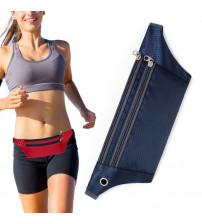 Borseta sport pentru alergare cu orificiu pentru casti, Albastru