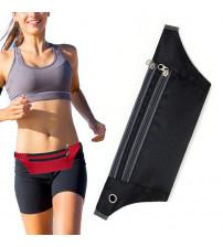 Borseta sport pentru alergare cu orificiu pentru casti, Negru