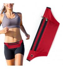 Borseta sport pentru alergare cu orificiu pentru casti, Rosu