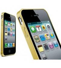 Bumper metalic pentru iPhone 4 / 4S - Auriu
