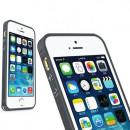 Bumper metalic pentru iPhone 5 / 5S - Gri