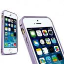 Bumper metalic pentru iPhone 5 / 5S - Mov