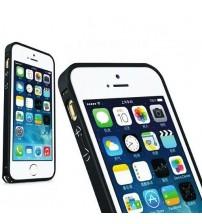 Bumper metalic pentru iPhone 5 / 5S - Negru