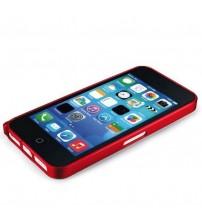 Bumper metalic pentru iPhone 5C - Rosu