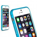 Bumper metalic pentru iPhone 6 - Albastru
