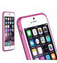Bumper metalic pentru iPhone 6 - Roz