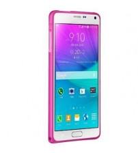 Bumper metalic pentru Samsung Galaxy Note 4 - Pink