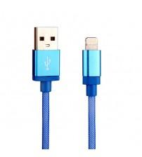 Cablu de date Lightning USB 1m, Albastru