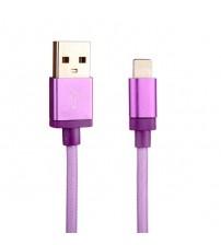 Cablu de date Lightning USB 1m, Roz