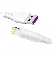 Cablu USB Lightning 1m Dudao L2L Fast Charge, Alb