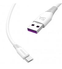 Cablu USB Type-C 1m Dudao L2T Fast Charge, Alb