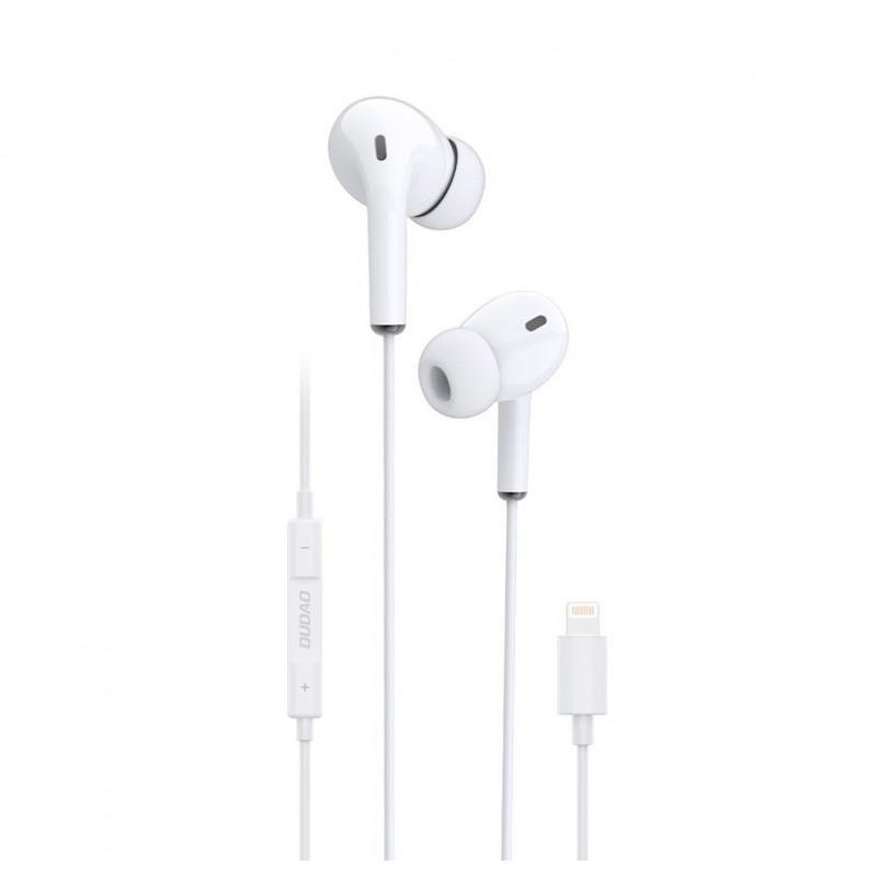 Casti Dudao X14L, In-Ear, Lightning, Microfon si Controller, Alb