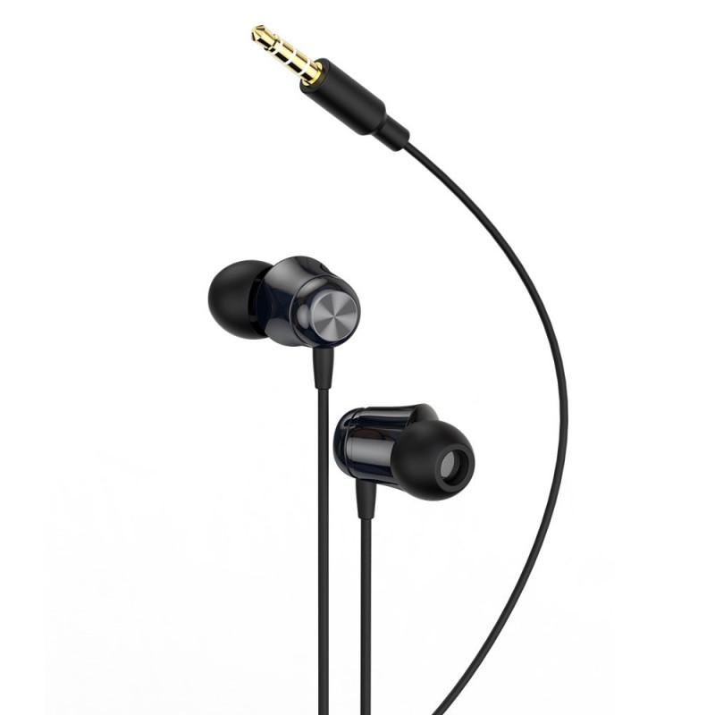 Casti In-Ear cu microfon Baseus Encok H13 3.5mm Jack, Black