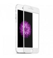 Folie protectie mata ANTIREFLEX din sticla securizata iPhone 6 Full 3D White