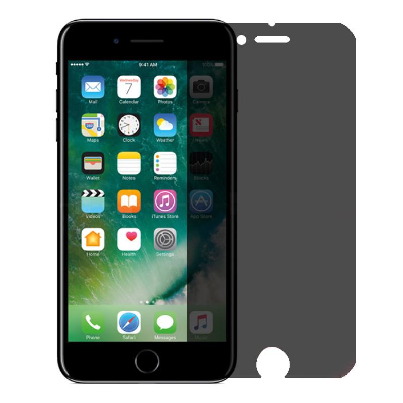 Folie sticla iPhone 7 Plus privacy, Folii iPhone - TemperedGlass.ro