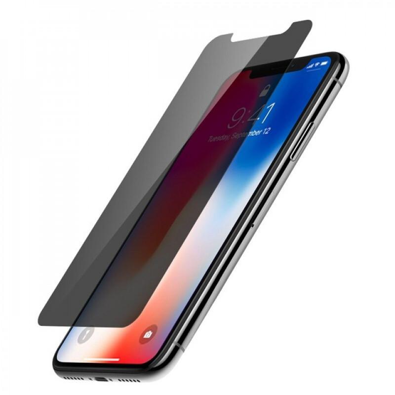 Folie sticla iPhone XS Max privacy, Folii iPhone - TemperedGlass.ro