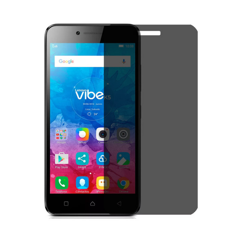 Folie sticla Lenovo Vibe K5 privacy, Folii Lenovo - TemperedGlass.ro