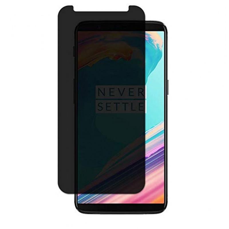 Folie sticla OnePlus 5T privacy, Folii OnePlus - TemperedGlass.ro