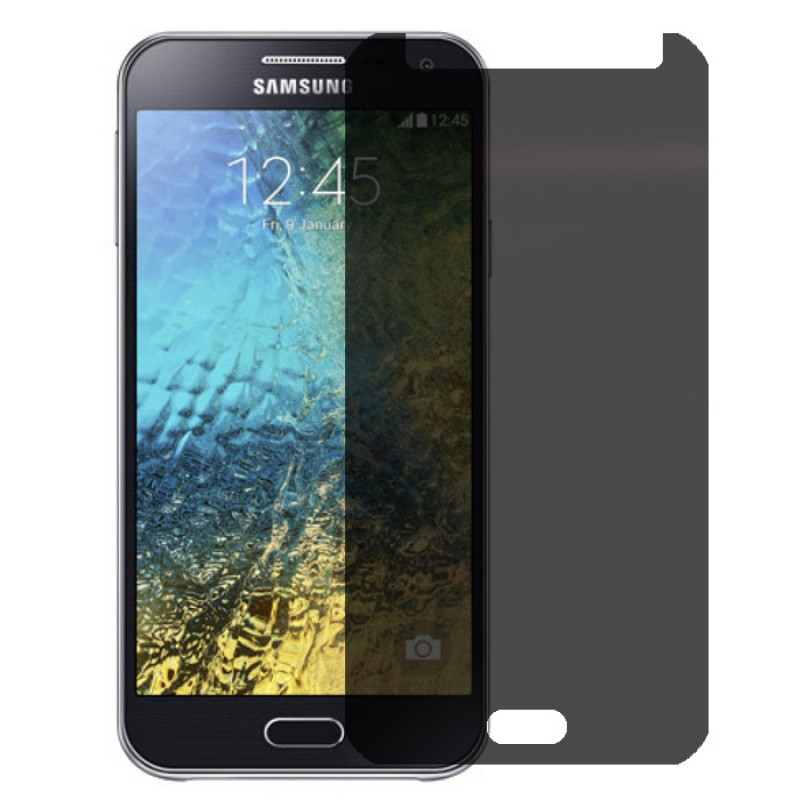 Folie sticla Samsung E5 privacy, Folii Samsung - TemperedGlass.ro