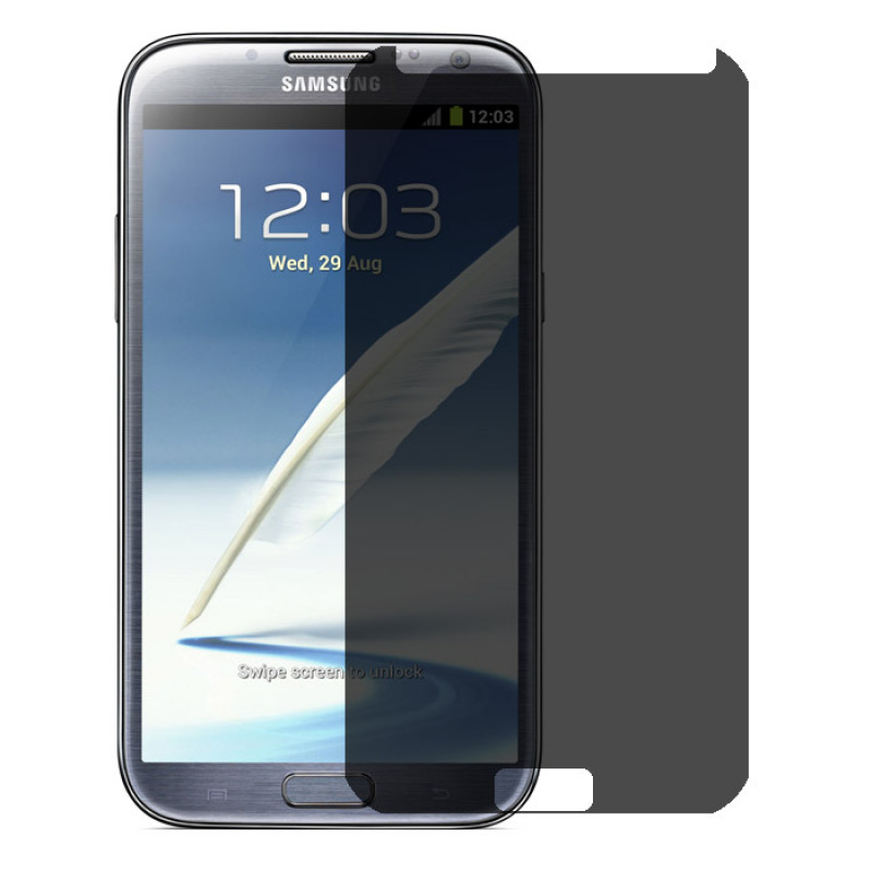 Folie sticla Samsung Note 2 privacy, Folii Samsung - TemperedGlass.ro