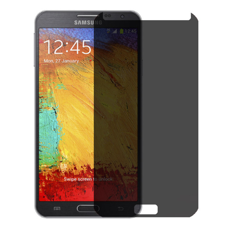 Folie sticla Samsung Note 3 privacy, Folii Samsung - TemperedGlass.ro