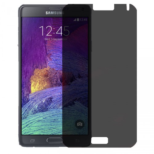Folie sticla Samsung Note 4 privacy, Folii Samsung - TemperedGlass.ro