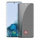 Folie protectie PRIVACY sticla securizata Samsung Galaxy S21 Ultra 3D Black