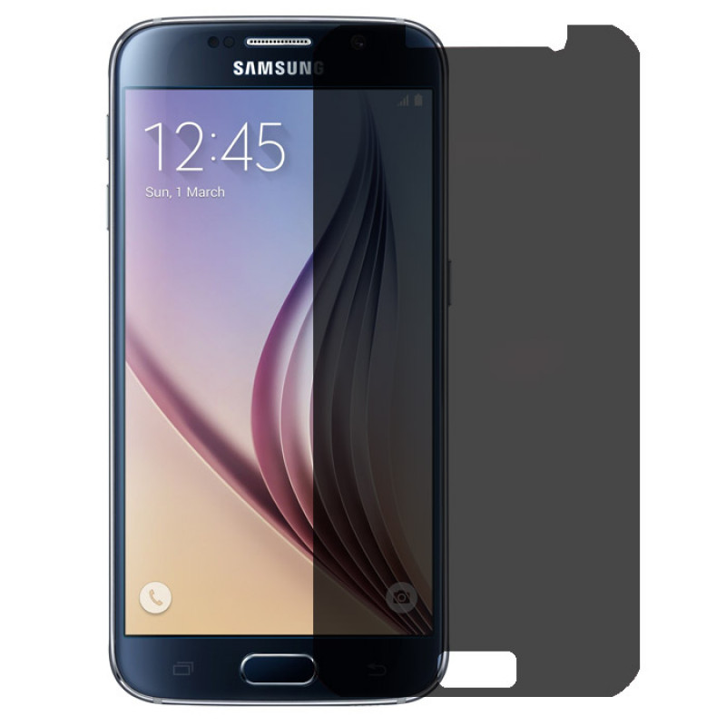 Folie sticla Samsung S6 privacy, Folii Samsung - TemperedGlass.ro