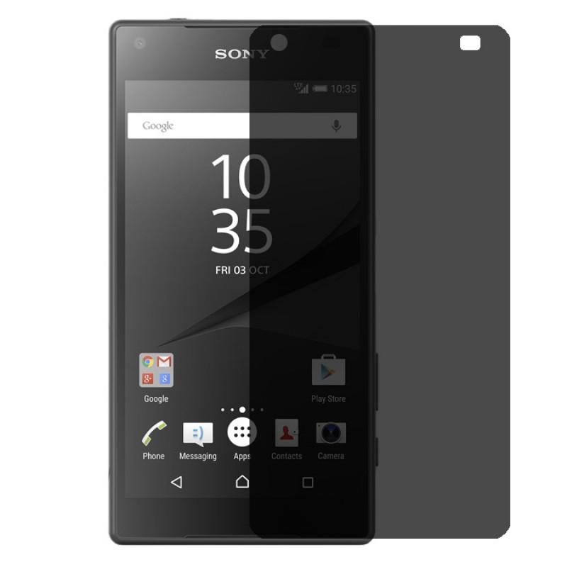 Folie sticla Sony Z5 Premium privacy, Folii Sony - TemperedGlass.ro