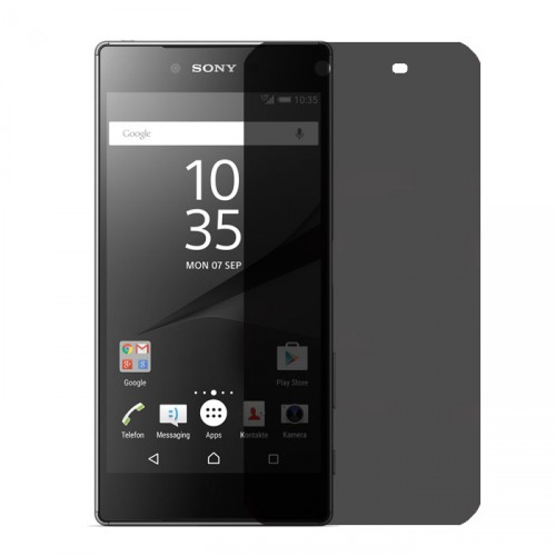 Folie sticla Sony Z5 Premium privacy, Folii Sony - TemperedGlass.ro