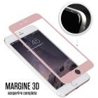 Folie protectie sticla securizata iPhone 6 Plus Full 3D - Rose Gold