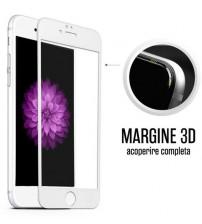 Folie protectie sticla securizata iPhone 7 Plus Full 3D - White