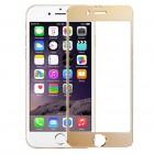 Folie protectie sticla securizata iPhone 6 - Gold aluminium