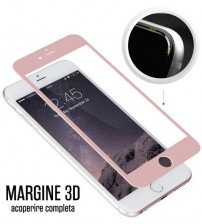 Folie protectie sticla securizata iPhone 6 Full 3D - Rose Gold