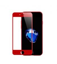Folie protectie sticla securizata iPhone 7 Plus Full 3D - Red