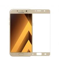 Folie protectie sticla securizata Samsung Galaxy A5 2017 - Gold