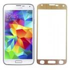 Folie protectie sticla securizata Samsung Galaxy S5 - Gold aluminium