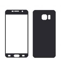 Folie protectie sticla securizata Samsung Galaxy S6 - Black aluminium set